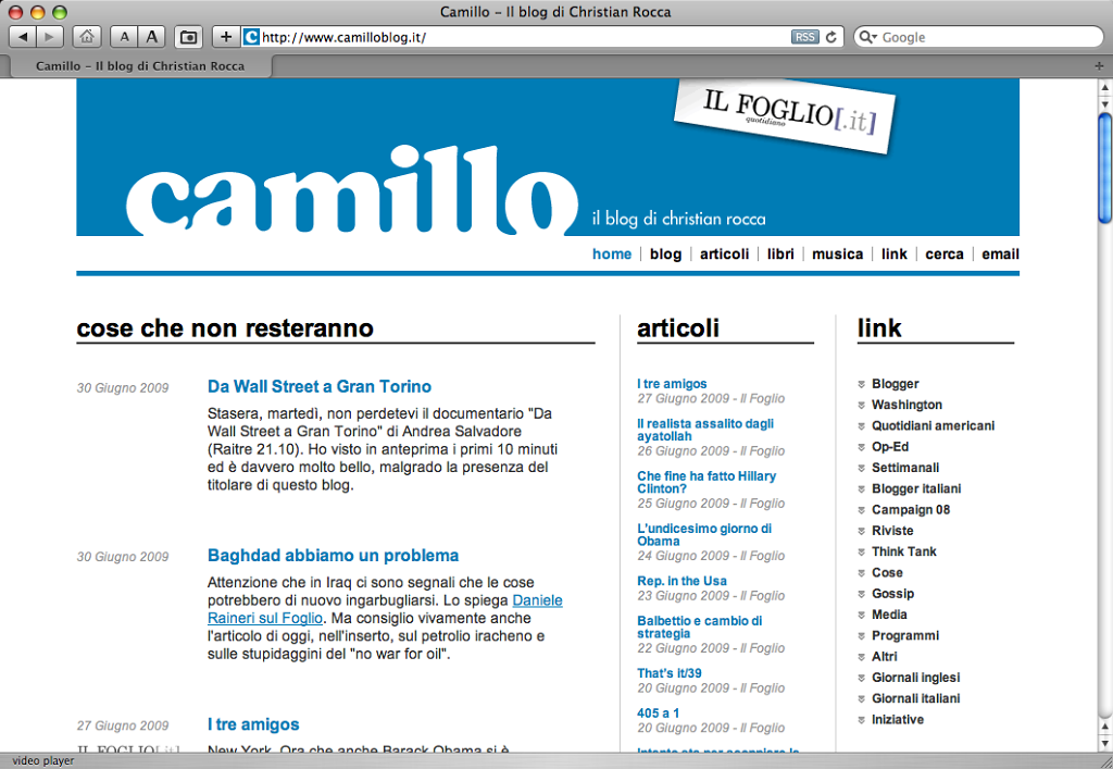 Camillo (Christian Rocca) website