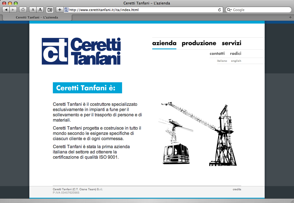 Ceretti Tanfani website