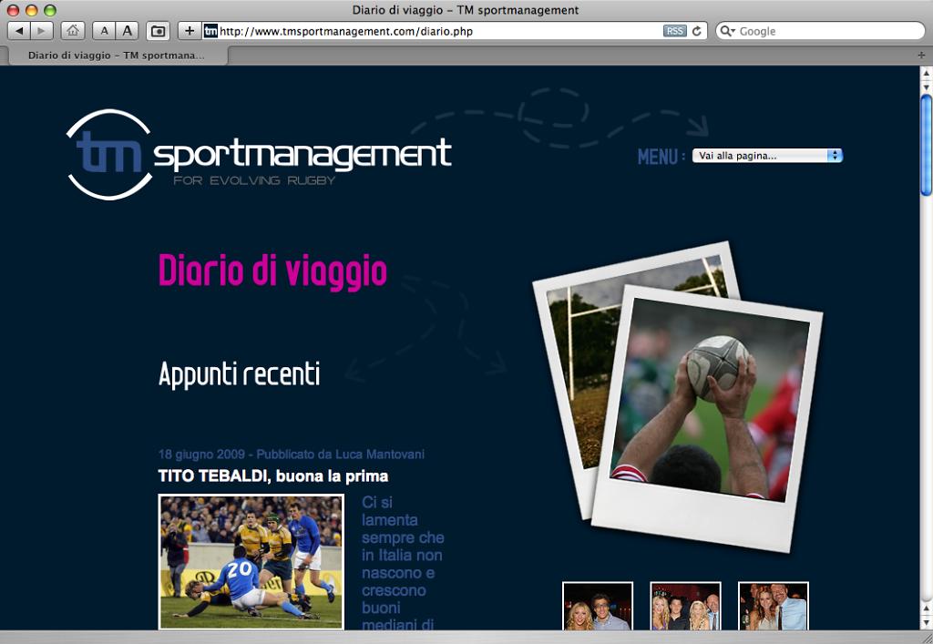 TM SportManagement website