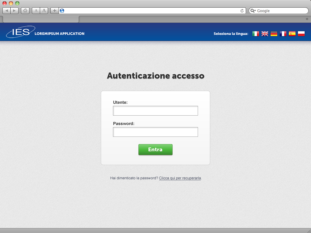 UX/UI design for a web-based application