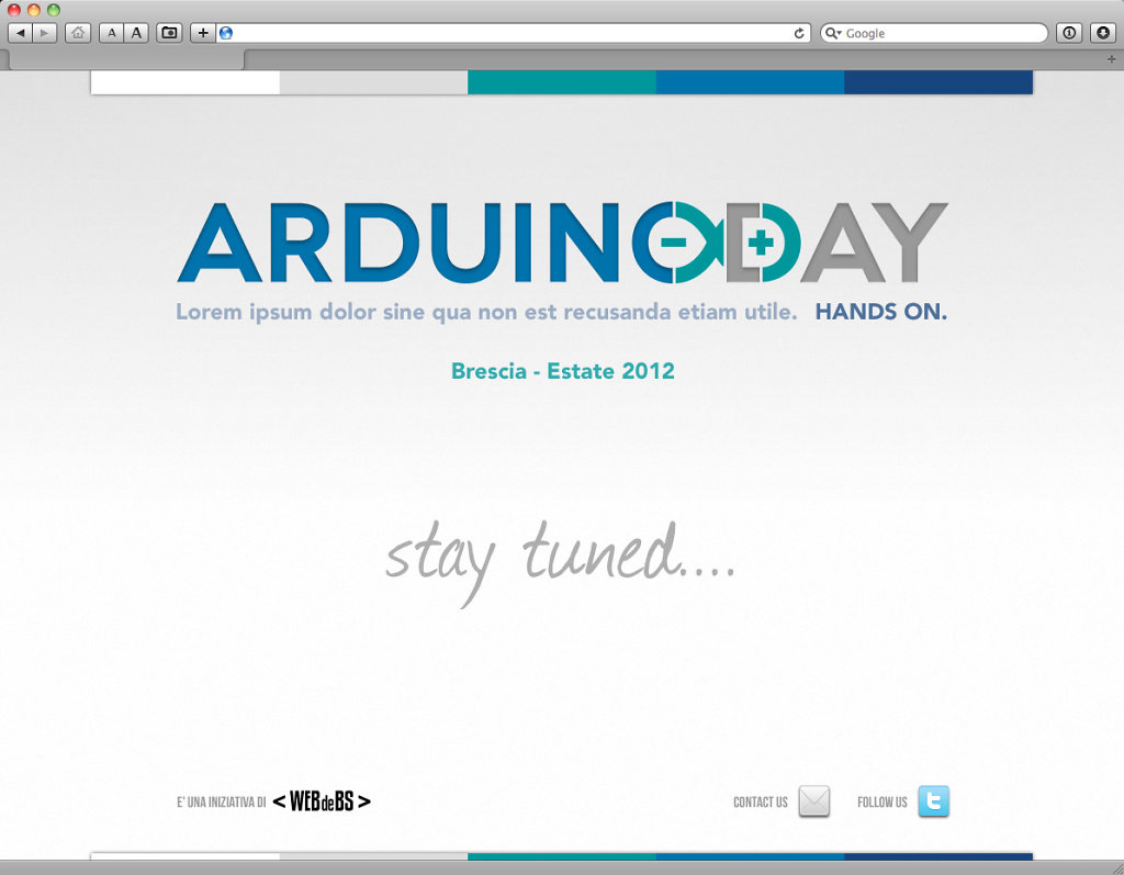 Arduino Day website design
