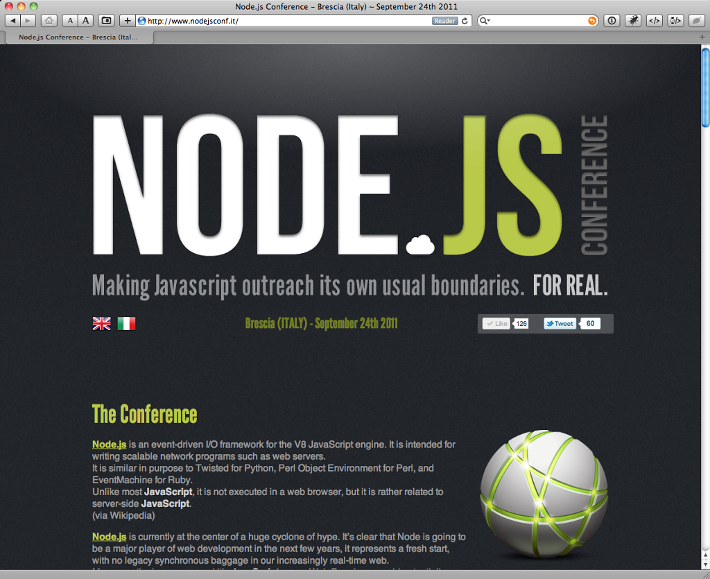 Node.js Conference website