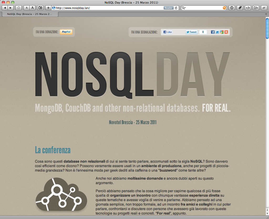 NoSQL Day website