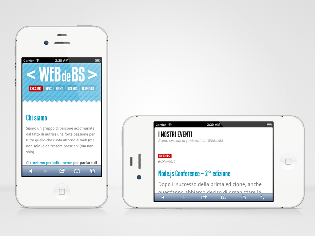 WEBdeBS association responsive website