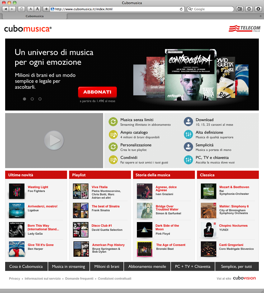 Cubomusica web-platform, the second version