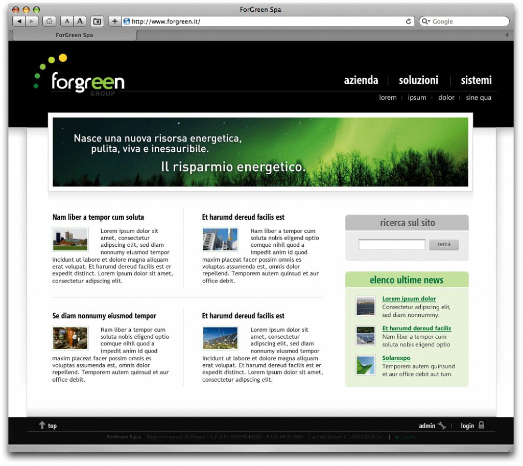 Forgreen website v. 1.0 (2011)