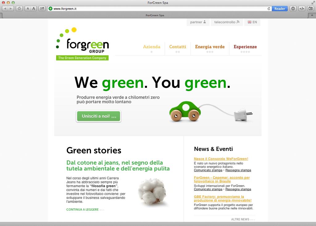 Forgreen website v. 2.0 (2012)