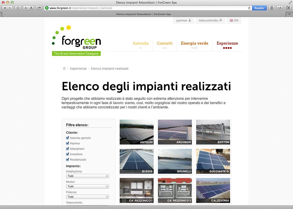 Forgreen website v. 2.0
