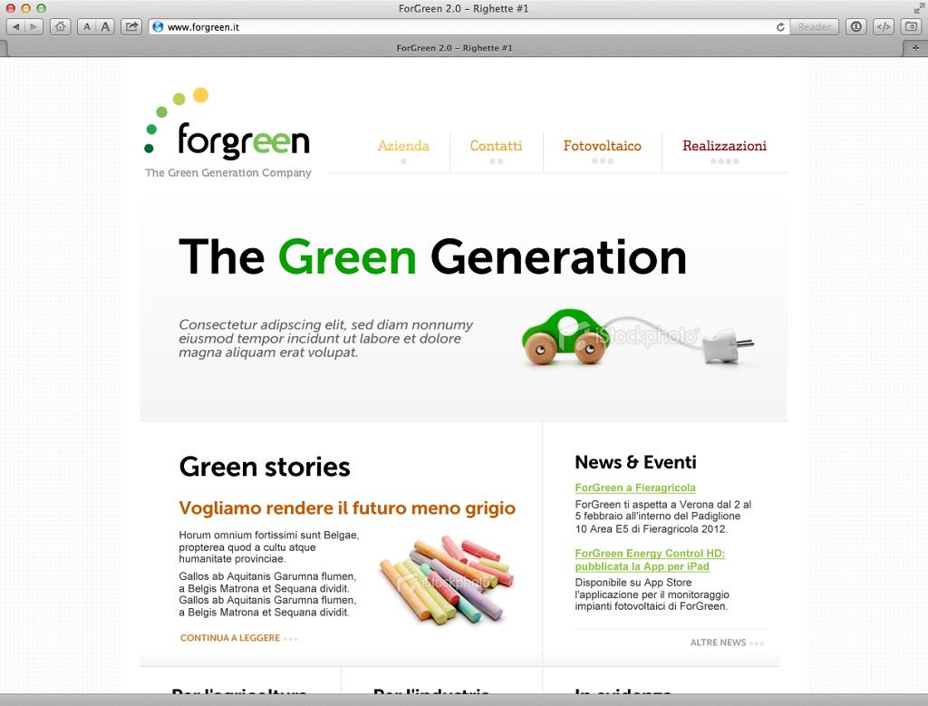Forgreen website v. 2.0 design