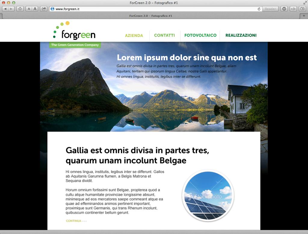 Forgreen website v. 2.0 alternative design