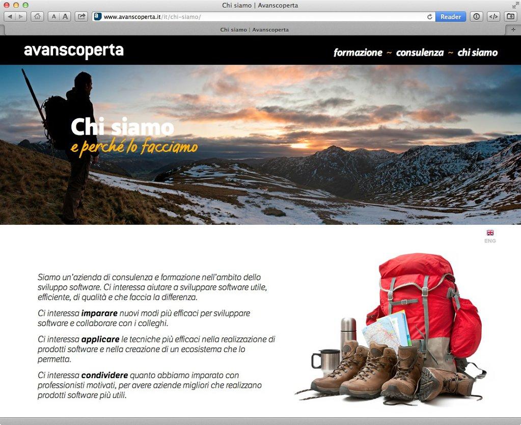 Avanscoperta website