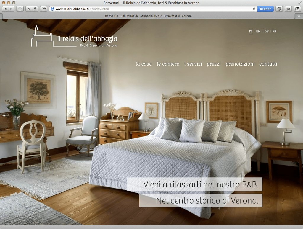 Il Relais dell'Abbazia website