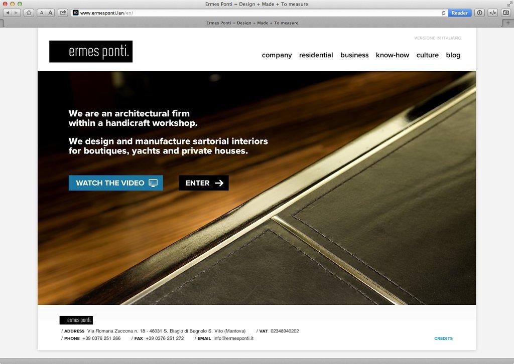 Ermes Ponti website