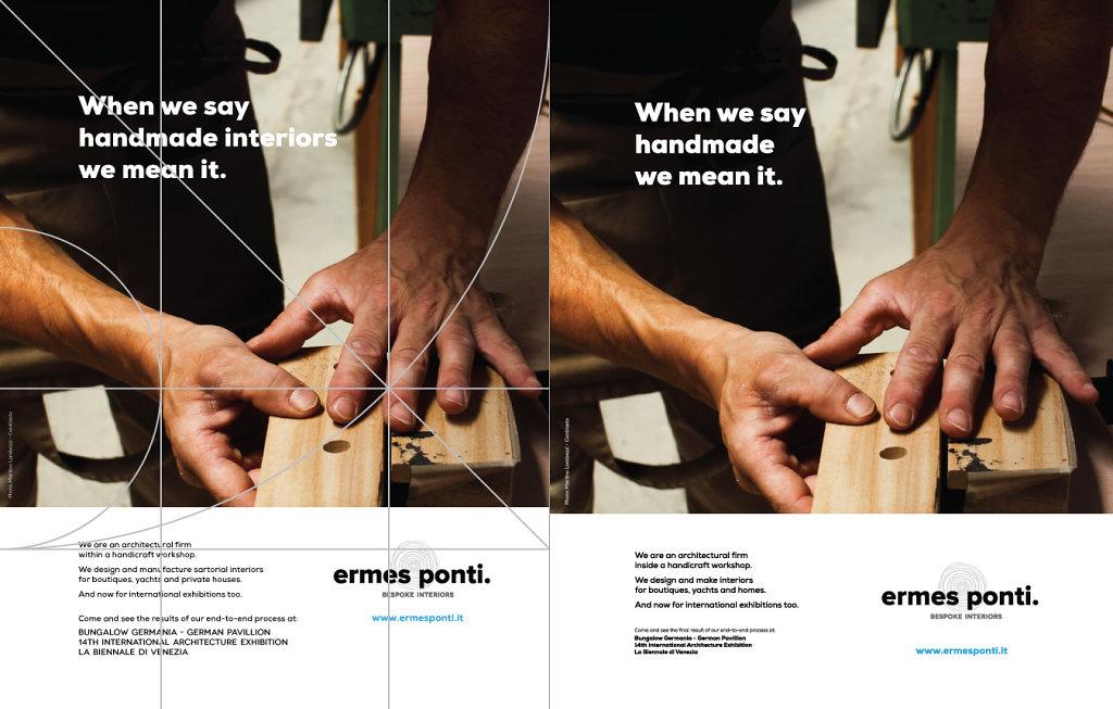 Ermesponti advertising for Biennale Venezia